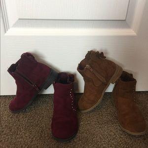 Bundle❗️toddler girls boots size 10